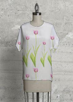 Pink Tulips   #shopvida #womans #fashion #designer #tops #designer #scarves