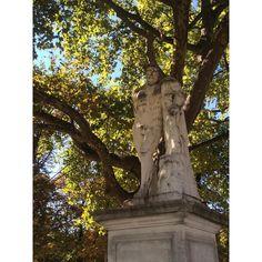"""©HonestMag  """"Jardins des tuileries, Paris. Statue of Hercules."""""""