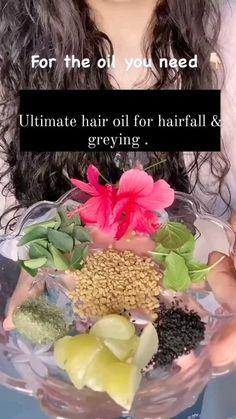 Homemade Hair Treatments, Diy Hair Treatment, Hair Growing Tips, Grow Hair, Hair Care Oil, Hair Oil, Natural Hair Care Tips, Natural Hair Styles, Hair Remedies For Growth