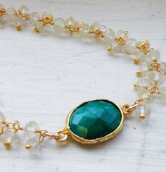 Citrine & Emerald Bracelet