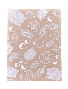 These WInter Foliage wrapping papers by 9th Letterpress hit the trends on the nose. Hand illustrated and screen printed sheets, using white ink on kraft paper, it doesn't get any trendier than that! We Love!