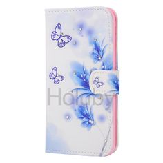 Diamond Studded Magnetic Flip Stand TPU+ PU Leather Case for Samsung Galaxy S6 G9200 Butterfly Flower