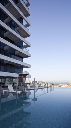 Rothschild no. 1 by Yashar #Architects | Amit Geron > great #pool and deck amenity space