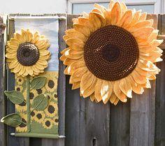 PDF Crochet Pattern Sunflower Head - I love a good sunflower pattern. Sunflower Head, Crochet Sunflower, Sunflower Pattern, Crochet Flowers, Knitting Paterns, Crochet Patterns, Knitting Ideas, Crochet Ideas, Crochet Art