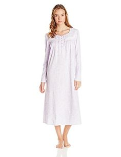 d8a10201cd Aria Women s Brushed Knit Long Sleeve Nightgown