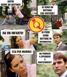 Non mi pare che sia un computer. Funny Test, Crazy Funny Memes, Funny Pins, Wtf Funny, Funny Cute, Funny Images, Funny Photos, Italian Memes, Good Jokes