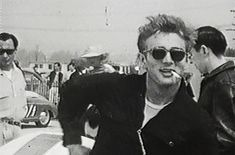 Candid footage of James Dean at a race in Santa Barbara, 1955.