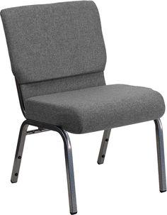 Gray Fabric Church Chair