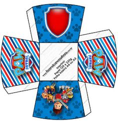 - Oh My Fiesta! in english Paw Patrol Party, Paw Patrol Birthday, Imprimibles Paw Patrol, Cumple Paw Patrol, Birthday Party Treats, Diy And Crafts, Paper Crafts, Printable Box, Easy Christmas Crafts