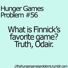 """This is soo not a """"Hunger Games Problem"""" and sooo cheesy yet i find it hilarious!"""