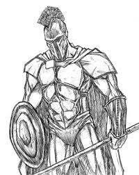 Image result for spartan drawing