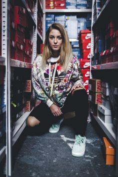 Like a flower diva.  adidas hoodie: http://www.ftshp.com/eu/adidas-farm-hoodie Nike AF1 - Enamel Green: http://www.ftshp.com/eu/nike-air-force1-enamel-green  #footshop #adidas
