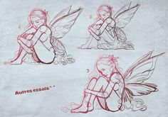 Croquis de fées pour tatouage (2)