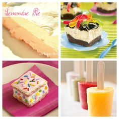 Yummy Party Food ...    Click on the Blogs for the receipe(s)    9. Pink Lemonade PiefromA Step in the Journey  10. Worms & Dirt Ice Cream Cakefrom Loblaw Great Food  11. Sprinkley Ice Cream Bitefrom Snack Picks  12. Fruit Popsicles from Dandy Sugar
