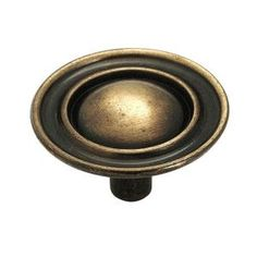 Amerock 1-1/2 in. Diameter Antique Brass Finish Ambassador Knob-159ABS at The Home Depot