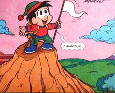 consegui, ilustração de Maurício de Sousa