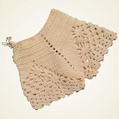 Diy Crafts - Vintage Crocheted Doll Bloomers from virtu-doll on Ruby Lane Plaid Crochet, Cotton Crochet, Vintage Crochet, Crochet Lace, Ruby Lane, Shorts Tejidos A Crochet, Crochet Designs, Crochet Patterns, Amigurumi Animals