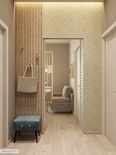 Дизайн проект маленькой квартиры в Москве | Студия LESH Kitchen Room Design, Sweet Home, House Design, Interior Design, Mirror, Bedroom, Modern, Projects, Furniture