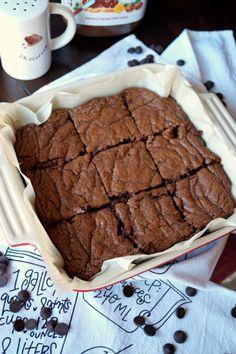 3-ingredient Nutella brownies | The Baking Fairy