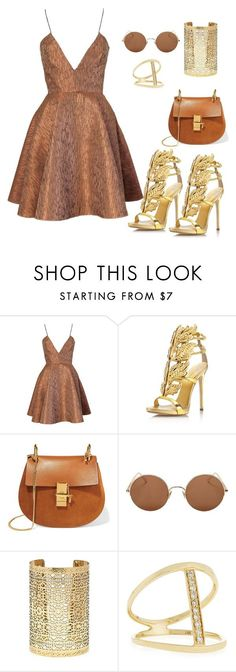 """gal"" by conceitedbrat on Polyvore featuring Joana Almagro, Giuseppe Zanotti, Chloé, Sunday Somewhere, Forever 21 and Sydney Evan"