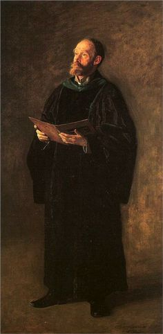 The Dean's Roll Call, 1889 by Thomas Eakins (American 1844-1916)...academic robes