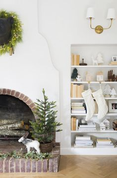 Design by Emily Henderson ❤️ the fireplace
