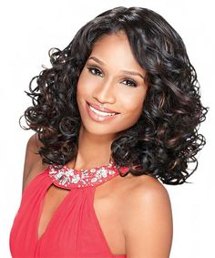 This Total Instant Weave contains a U Part. The Synthetic Half Wig Blossom is medium in length and curly in style. Easy to wear, easy to style. Ombre Color, Blonde Color, Red Color, U Part, Half Wigs, Synthetic Wigs, Thighs, Curly, Weaving