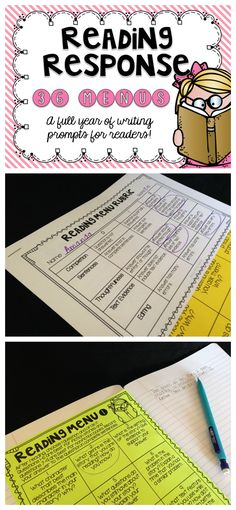 Reading response menus give students some choice while allowing teachers to hold students accountable for independent reading and assess their understanding of various comprehension skills. Learning to write about text will help students to deepen their understanding and prepare them for standardized testing.