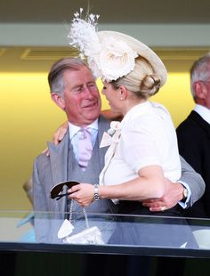 Prince Charles greets his niece Zara Philips at Royal Ascot 2008 - Day 1.
