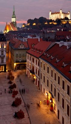 Old Town, Bratislava, Slovakia.  We are hoping to go for a day trip while we are in Vienna, Feb. 2014