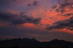The Santa Rita Mountains in Green Valley, Pima County, Arizona, USA at sunset.  by ePut, via Flickr