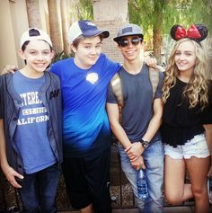 "What a great group of people at ""The Happiest Place on Earth!"" On Tuesday (June 2, 2015), the cast members of Disney Channel's ""Best Friends Whenever"" (L"