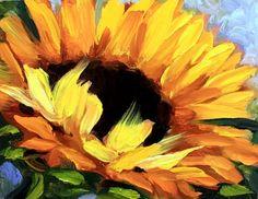 Sunny Side Up Sunflower, painting by artist Nancy Medina