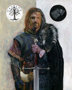 check out our Got stuff link is in the BIO section Game Of Thrones Artwork, Game Of Thrones Poster, Eddard Stark, Ned Stark, Tolkien, Legolas And Gimli, Art Gallery, Spoke Art, Kings Game