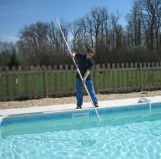 Every pool needs cleaning on a regular basis, not only for appearances and sanitation but to protect the investment you have made in your backyard . Swimming Pool Maintenance, Pool Cleaning, Cool Pools, Thing 1 Thing 2, Landscape Design, Swimming Pools, Pool Covers, Investing, Backyard Pools