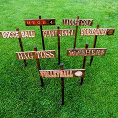 Yard Party Signs Lawn Games Ideas For 2019 Picnic Activities, Picnic Games, Picnic Ideas, Wedding Activities, Picnic Decorations, Outdoor Christmas Decorations, Wedding Decorations, Company Party, Company Picnic