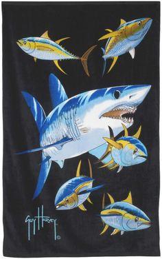 Guy Harvey Shirts - Guy Harvey Beach / Sport Towel in 7 Designs, $21.95 (http://www.guyharveyshirts.com/guy-harvey-beach-sport-towel-in-7-designs/)