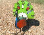 Metal Yard Art Garden Peacock Recycled Colorful Junk Iron 211 BZ