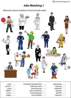 jobs matching pictures and words