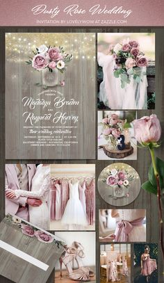 Pink wedding inspiration and ideas for the alternative creative bride - - Dusty rose (mauve) watercolor flowers mason jar rustic country wedding invitations. Staubige Rose, Rosa Rose, Dusty Rose Wedding, Pale Pink Weddings, Lavender Grey Wedding, Pink Champagne Wedding, Pink And Gold Wedding, Country Wedding Invitations, Event Invitations