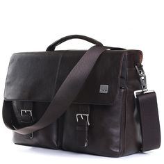 """Jackson 15"""" Brown Leather Laptop Briefcase Bag from KNOMO: Official Store   Men's Brown Leather Laptop Bag   Stylish 15"""" Laptop Bag   Briefc..."""