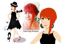 Ilustrações Catita Design: Mascotinha Pessoal da Ilustradora