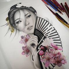 👩🏻🌸 Artwork and progress by: Joanne Duong Location: Sydney, Australia Artist's IG: Samurai Drawing, Samurai Tattoo, Tattoo Studio, Dragon Tattoo Full Back, Tattoo Time Lapse, Geisha Tattoo Design, Japanese Tattoos For Men, Irezumi Tattoos, Geisha Tattoos