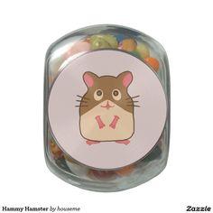 Hammy Hamster Glass Jar
