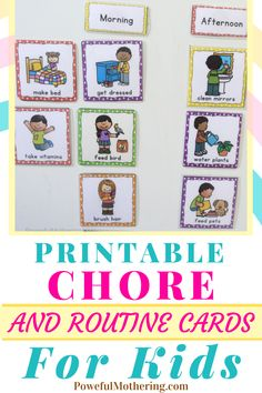 Chores, for most kids, can be a pain in the ass! Harsh but that's just a fact! Make it a little extra fun with these mega-fun chore cards! Check out the blog for more details on these free printable chore and routine cards for the kids! Perfect for moms out there looking to add a little fun to their children's hard work! These colorful and fun printables will surely have your child looking forward to doing them, promoting consistency! Great for toddlers! #printables #printablecards Printable Cards, Free Printables, Chore Cards, How To Clean Mirrors, How To Make Bed, Consistency, Kids Cards, Parenting Advice, Hard Work