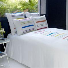 linge de lit jalla candide nacre housse de couette. Black Bedroom Furniture Sets. Home Design Ideas