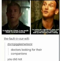 Two doctors looking for their companions