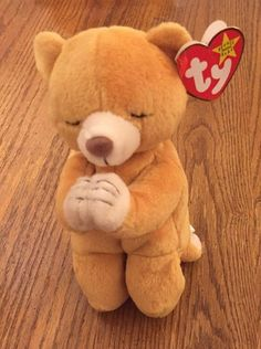 e268e7678ba Eb2888 Ty Beanie Baby Hope Bear 1999 in Plastic Case Kr1965 Collectible