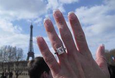 Just Engaged! Junior's Paris Proposal - Shapiro Diamonds http://www.shapirodiamonds.com/product/juniors-paris-proposal Dallas, Texas - Dallas Brides - Paris Proposal - Eiffel Tower - Engagement Ring - Micropave Diamond Ring - Princess Cut Diamond - Round Cut Diamonds - Custom Designed Diamonds