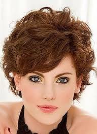 Resultado de imagen para short curly haircuts for round faces